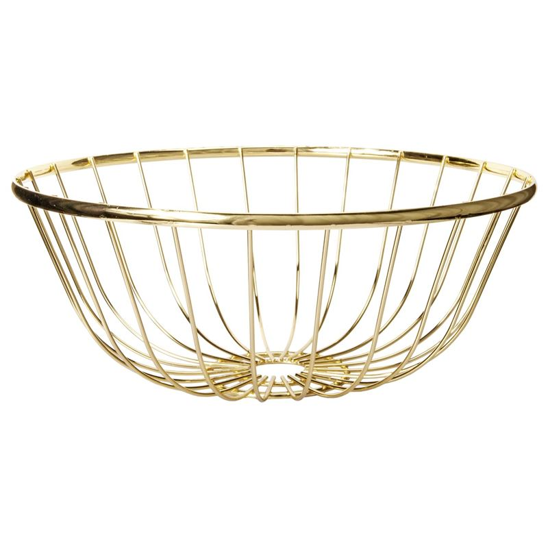 Zuhause – Spun Gold Low Bowl 30x12cm