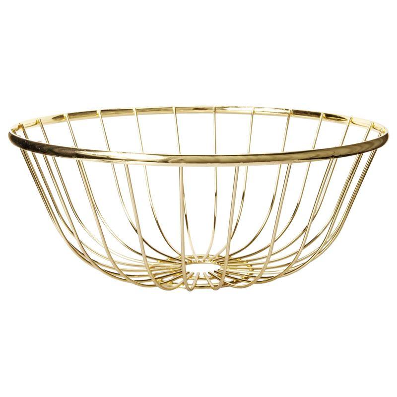 Zuhause – Spun Gold Low Bowl 30x12cm
