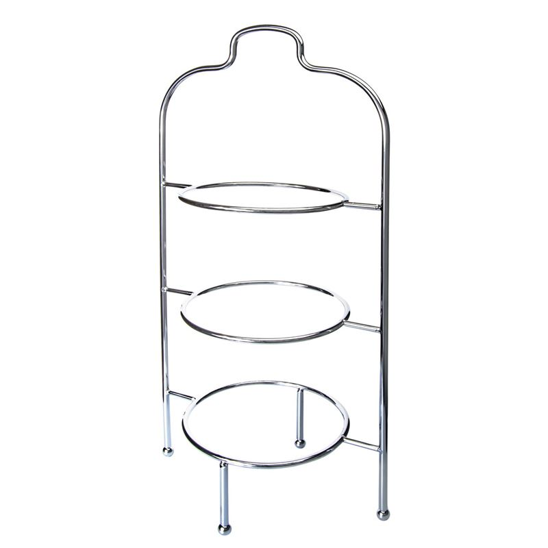 Zuhause – High Tea 3 Tier Plate Stand Chrome