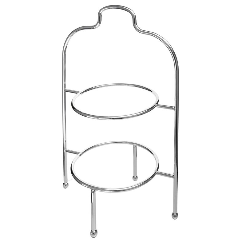 Zuhause – High Tea 2 Tier Plate Stand Chrome