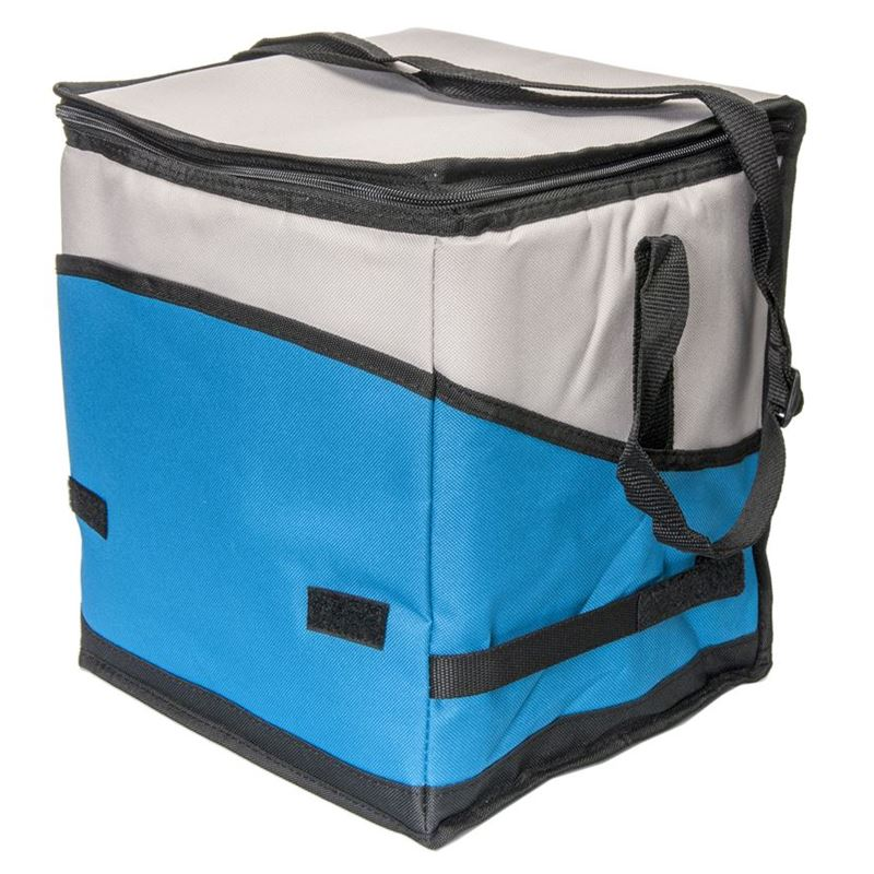 Zuhause – TomTom Collapsible Large Cooler Case with Shoulder Strap Blue
