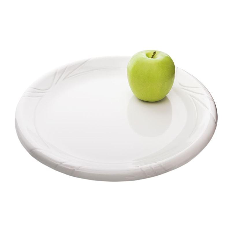 Benzer – Ice White Gina Rimmed Melamine Large Platter 32cm