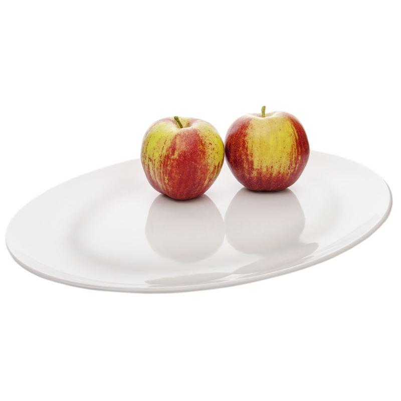 Benzer – Ice White Sage Melamine Oval Serving Platter 35.5x28x2.5cm