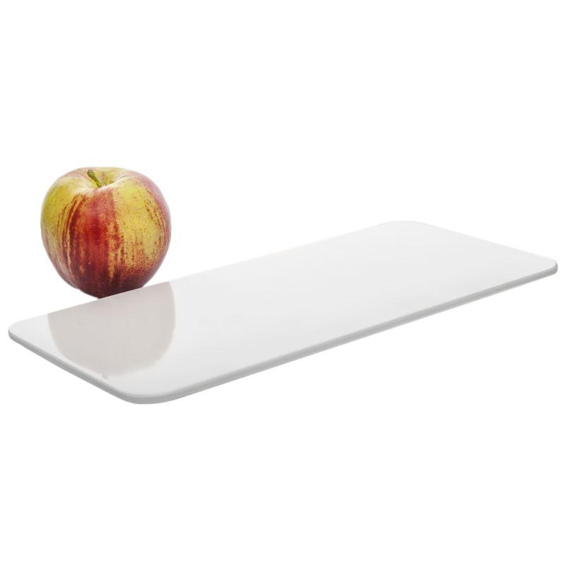 Benzer – Ice White Zen Melamine Flat Rectangular Platter 30×13.6×1.3cm