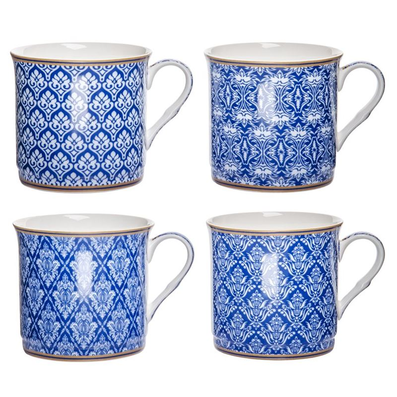 Heritage – Fine Bone China Moroccan Blue Princess Mug 360ml Set of 4