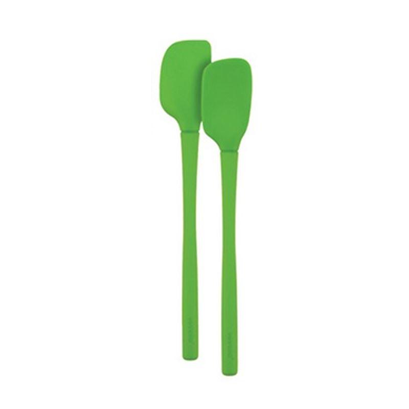 Tovolo – Flex-Core All Silicone Mini Spatula/Spoon Set of 2 Spring Green