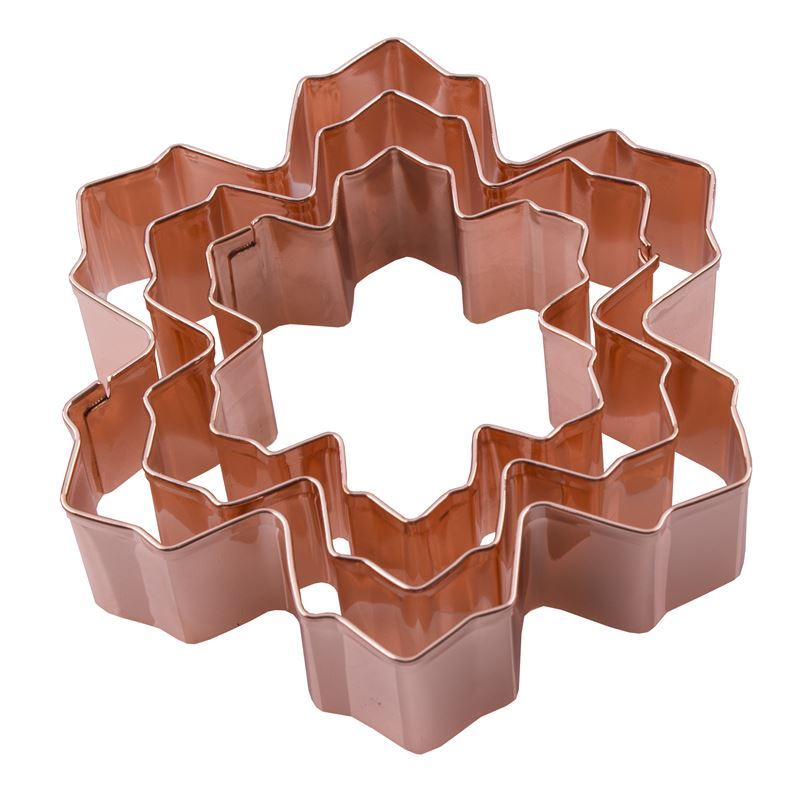 D-Line – Snowflake Cookie Cutter set 3 Copper Plated