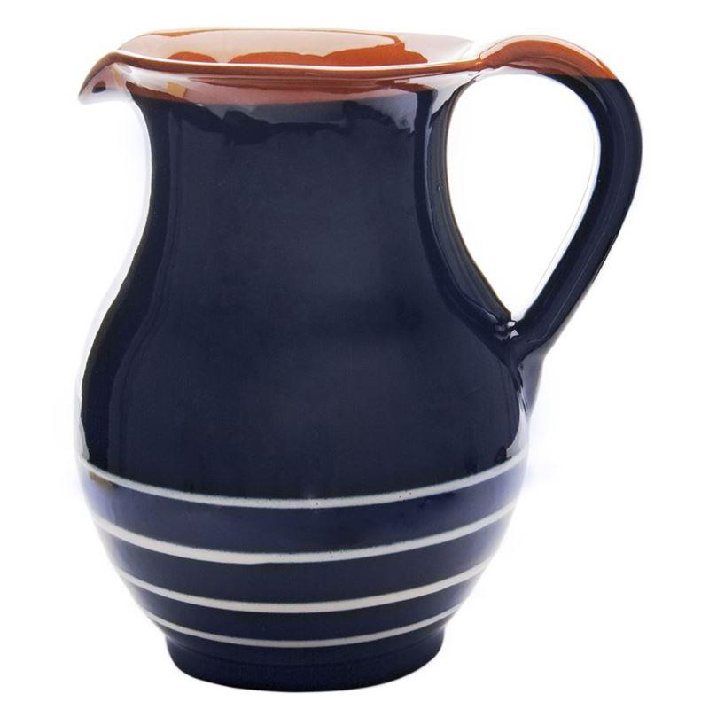 Amano – Espiral Handmade Terracotta Pitcher 1.5Ltr Mediterranean Blue (Made in Spain)
