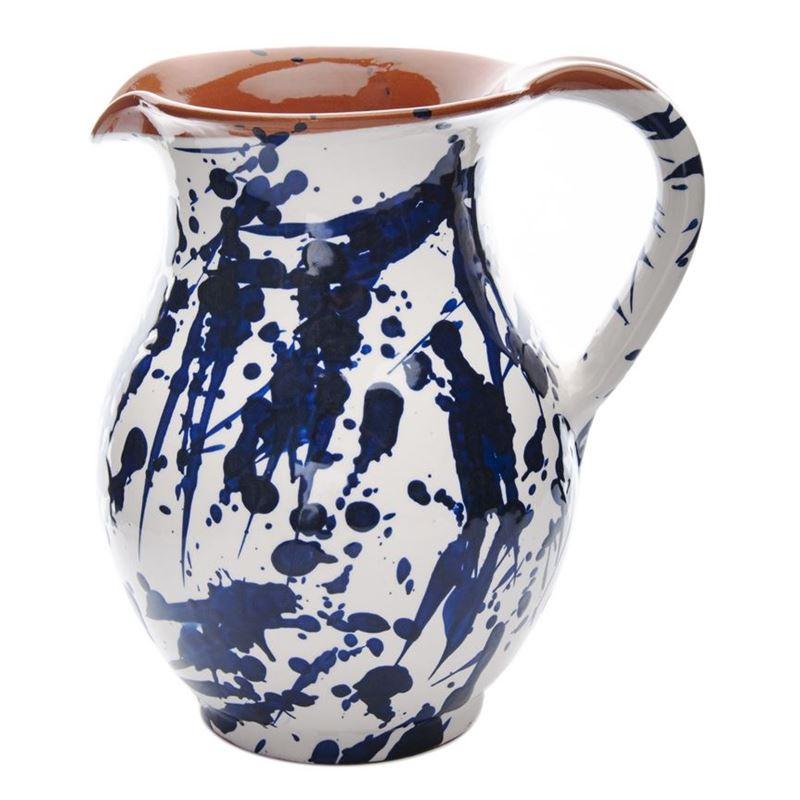 Amano – Artistico Handmade Terracotta Pitcher 1.5Ltr Mediterranean Blue (Made in Spain)