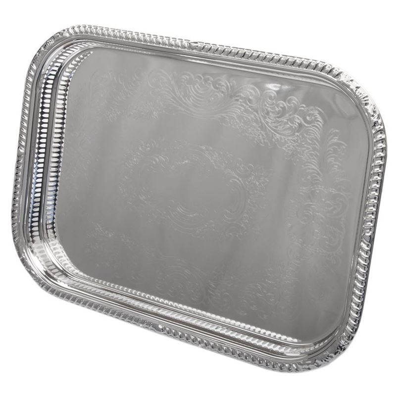Whitehill – Silver Plated EP Rectangular Gallery Tray 45x35cm