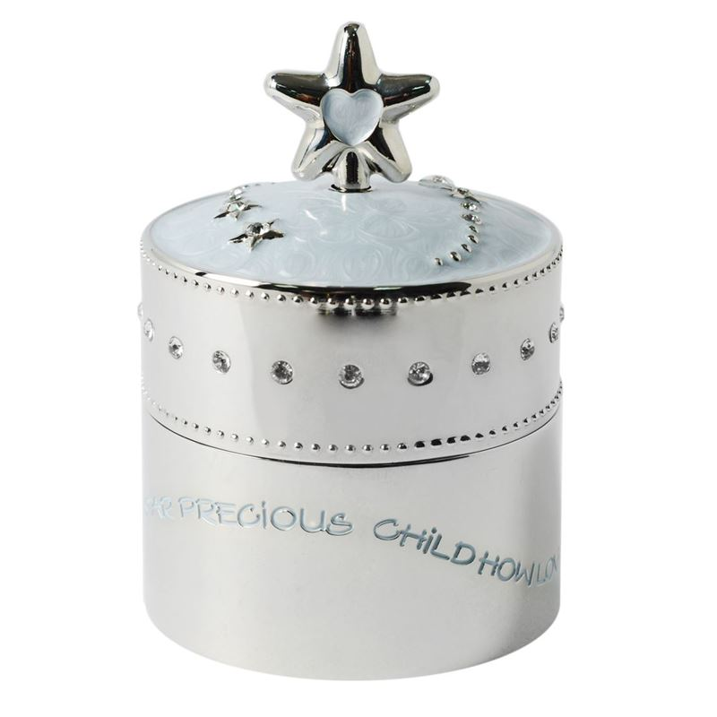 Whitehill – Silver Plated and Enamelled Blue Star Musical Box 7cm