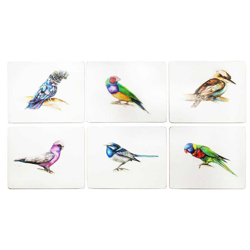 Cinnamon – Away with the Birds Placemat 34×26.5cm Set of 6