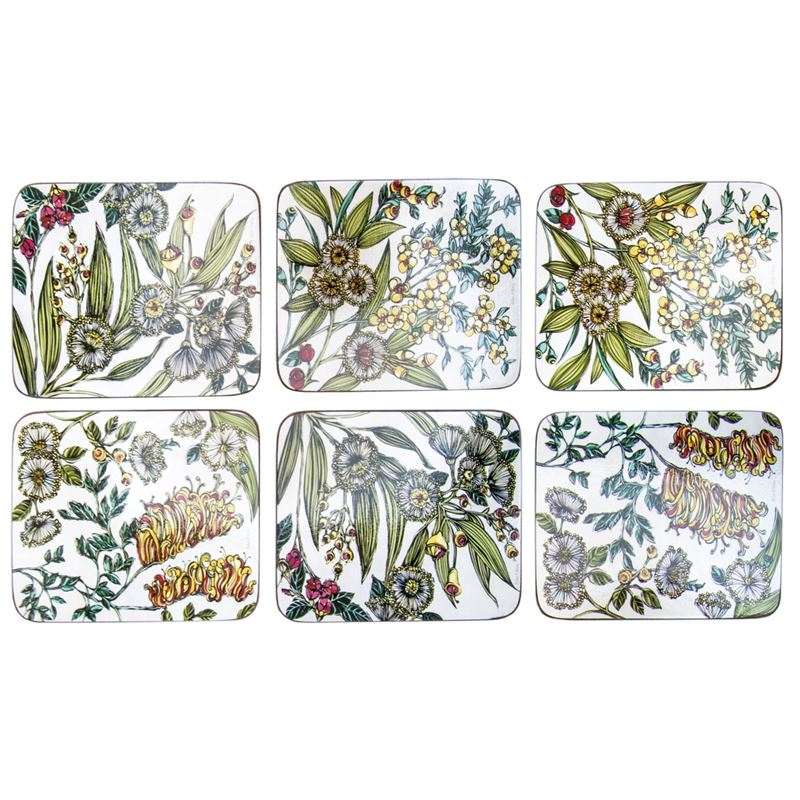 Cinnamon – Retro Native Floral Placemat 34×26.5cm Set of 6