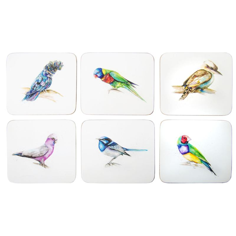 Cinnamon – Away with the Birds Coaster 11×9.5cm Set of 6