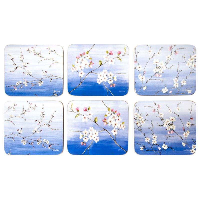 Cinnamon – Blossoms Coasters 11×9.5cm Set of 6