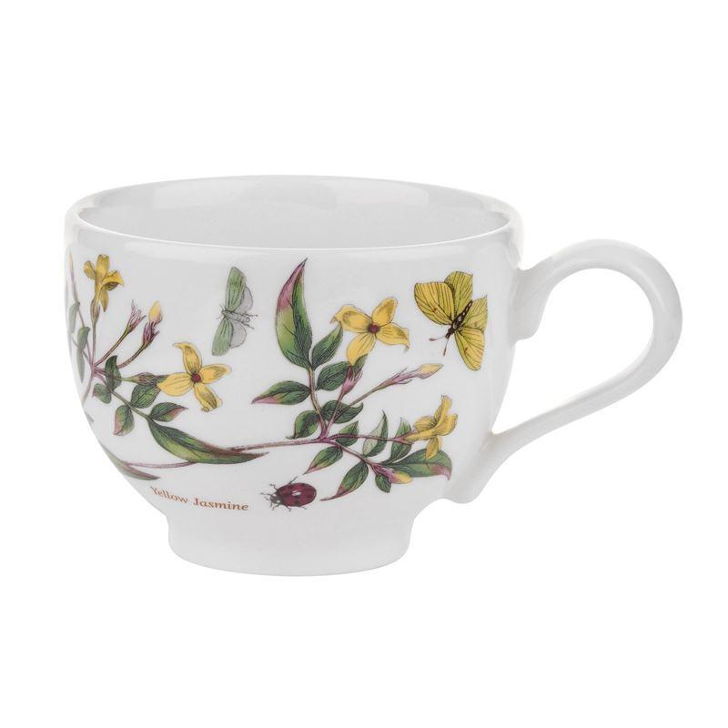 Portmeirion Botanic Garden – Tea Cup Yellow Jasmine 200ml Traditional Shape (Made in England)