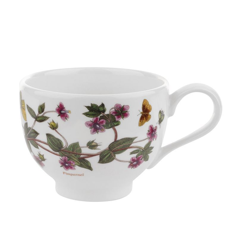 Portmeirion Botanic Garden – Tea Cup Pimpernel 200ml Traditional Shape (Made in England)