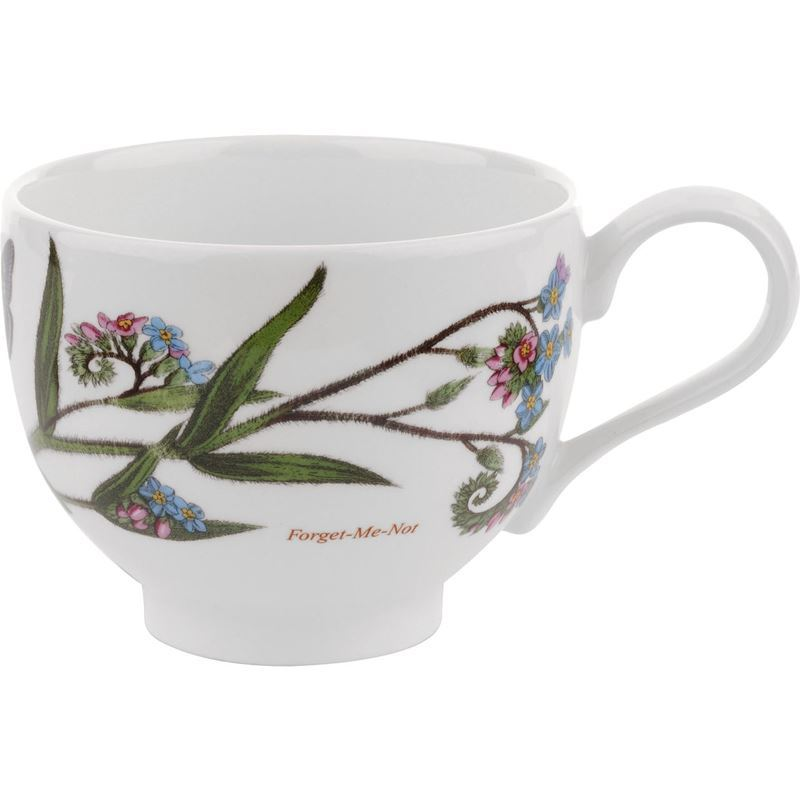 Portmeirion Botanic Garden – Tea Cup Forget-me-Not 200ml Traditional Shape (Made in England)