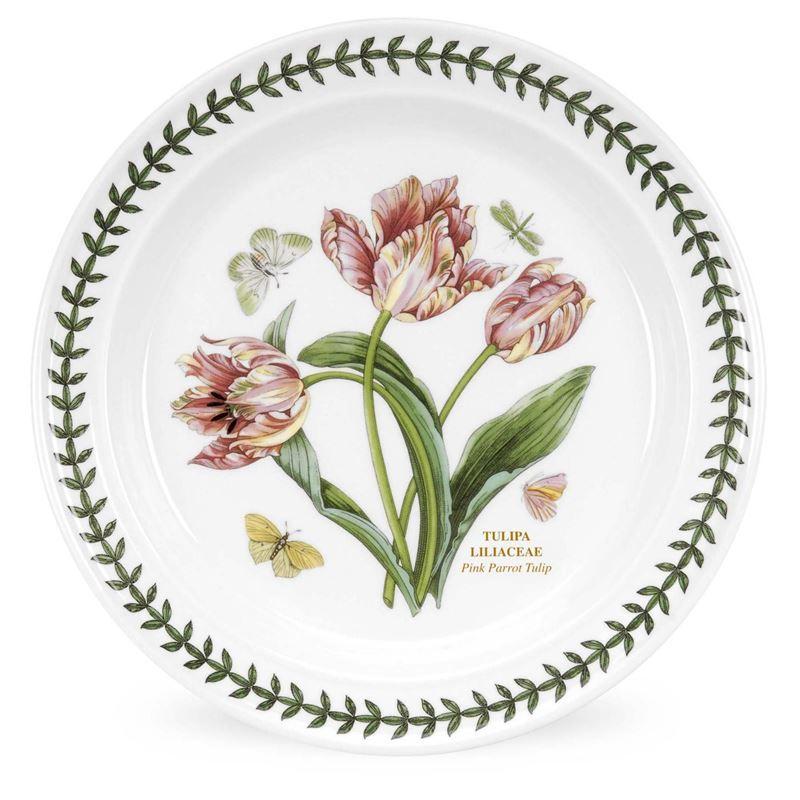 Portmeirion Botanic Garden – Dinner Plate Pink Parrot Tulip 25cm (Made in England)