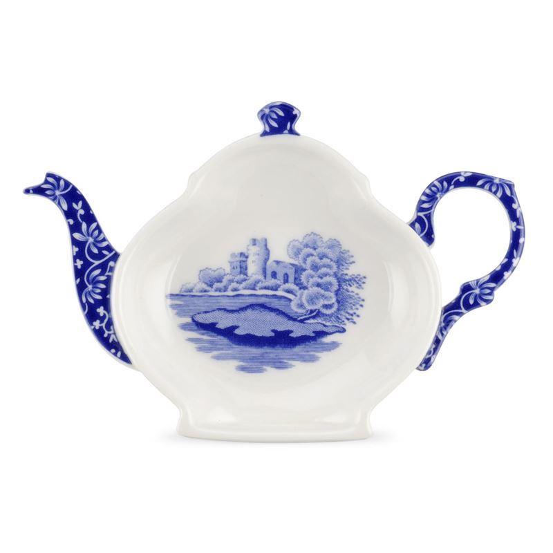 Spode – Blue Italian Tea Bag Tidy/Spoon Rest 14cm