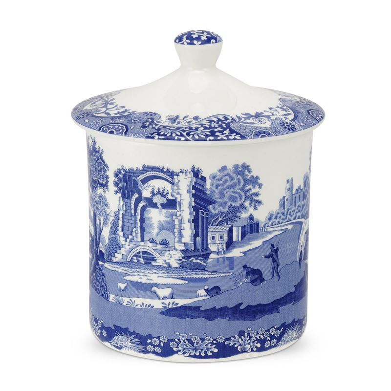 Spode – Blue Italian Storage Jar 16.5cm