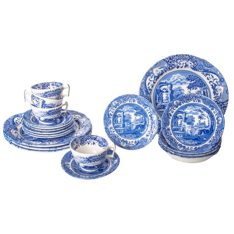 Spode – Blue Italian 20 Piece Dinner Set (Made in England)