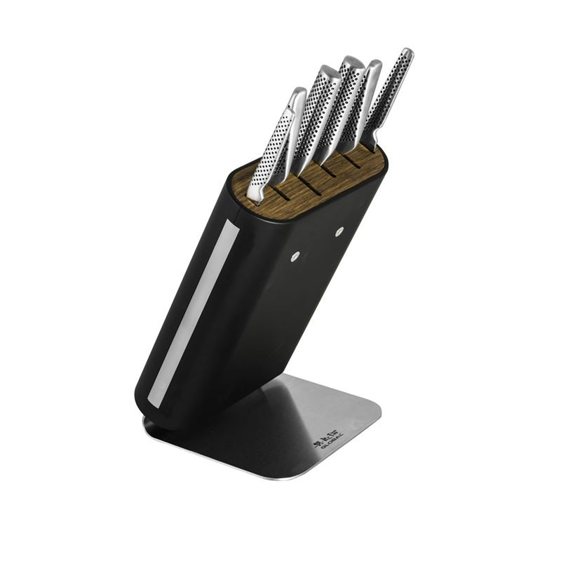 Global – Hiro Shiro7 piece Professional Knife Block Set Black (Made in Japan)