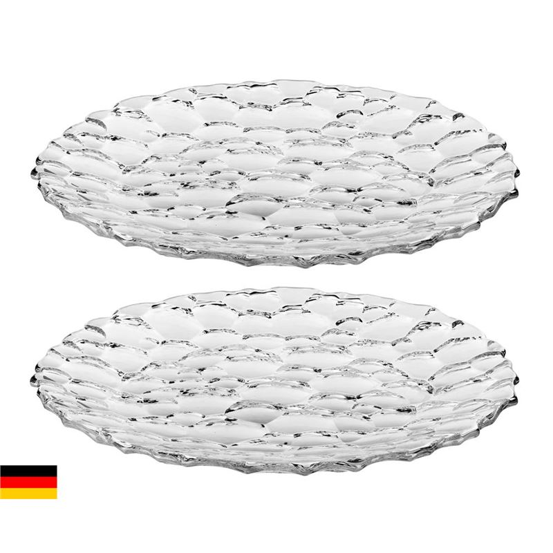 Nachtmann Crystal – Sphere Set of 2 Platters 32cm  (Made in Germany)