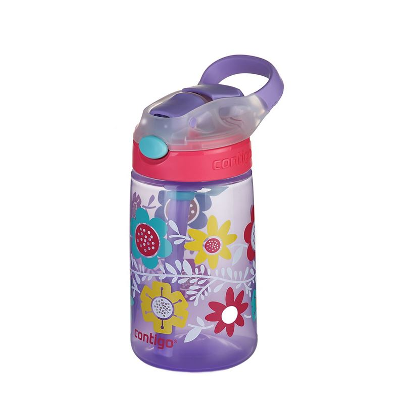 Contigo – Gizmo Flip Autospout Drink Bottle Flowers 420ml