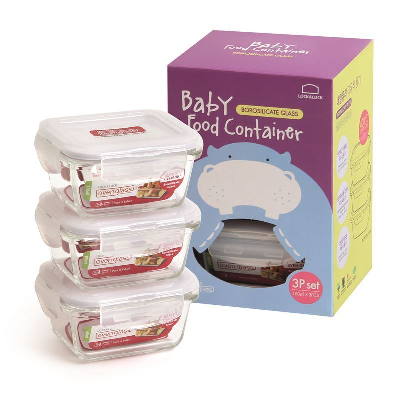 Lock & Lock – Baby Food Container 160ml Set of 3