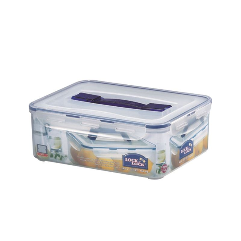 Lock & Lock – Classic Rectangular Tall Container with Handle 4.1Ltr