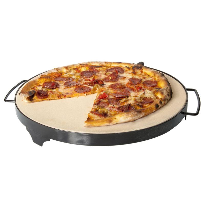 Tradizione Italiana by Benzer – BBQ Pizza Stone with Enamelled Rack 38cm