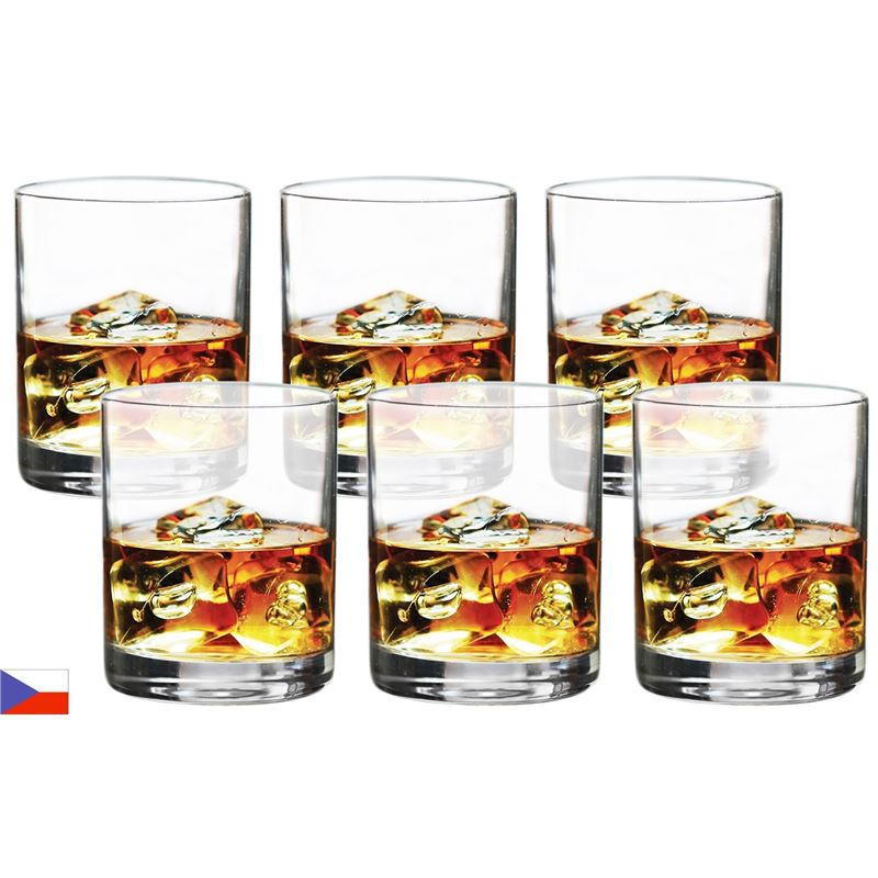 Bohemia by Circle Glass – Soiree Crystalline Double On the Rocks 355ml Set of 6 (Made in Czech Republic)